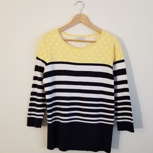 NWT Large Christopher and Banks Patterned Sweater